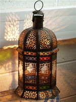 Iron Moroccan Lantern antique table top & hanging EH-L-81914