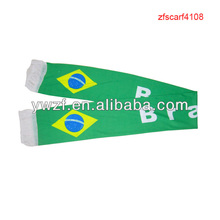 Jersey Printed Scarf Brazil World Cup Football Fans Scarf