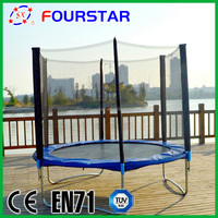 hot sale bungee jumping bed bouncer trampoline with net