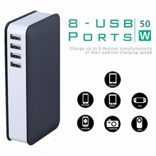 Portable USB Wall Travel Charger 8 Ports USB travel charger adapter mobile phone wall charger multiple usb charging station