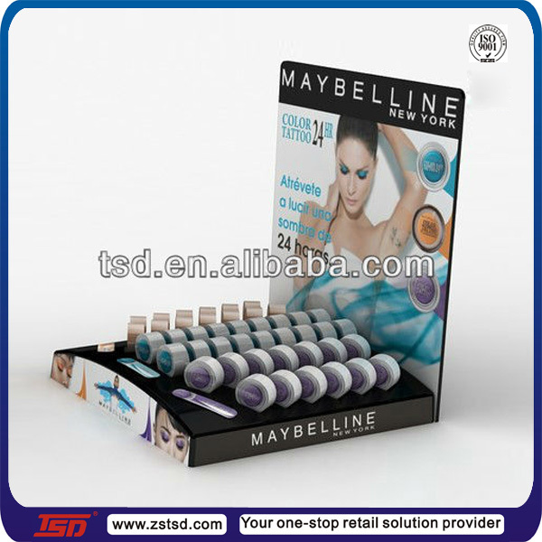 TSD-A145 Custom countertop acrylic eyeshadow display stand,cosmetic eyeshadow display,makeup mac cosmetic display stand