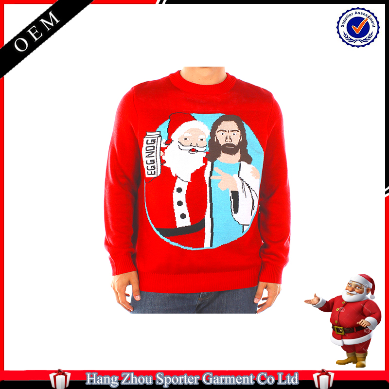 16FZCS64 Santa & Jesus christmas clothing jumper christmas pullover sweater