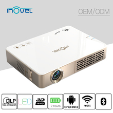 Android FULL HD 1080P Handheld Size Smart home mini 3D cinema Projector