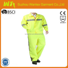 hi vis reflective working jacket and pants working safety man suit cotton man suit