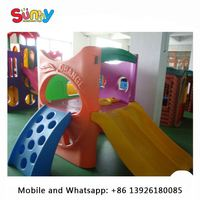 Enjoyable inflatable playground equipment used for preschool indoor small plastic slide