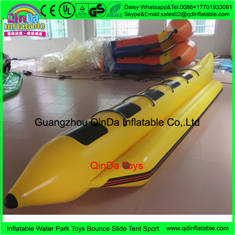 Single tube Popular adult inflatable rib banana <strong>boat</strong> , inflatable rubber <strong>boat</strong> for sale