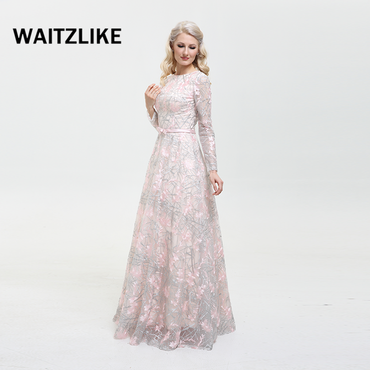 Guangzhou professional Brand WAITZLIKE popular bridesmaid dresses with sleeves cheap