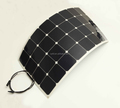 Semi flexible 100W solar cell panel with USA back contact cells