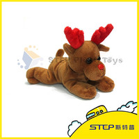 Pretty Toy Animal with Red Antler Christmas Plush Toy Nice Christmas Gift