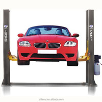 4T manual release two post lifter car lift auto hoist vehicle lifter with CE approved Shanghai Fanyi QJY4.0-D