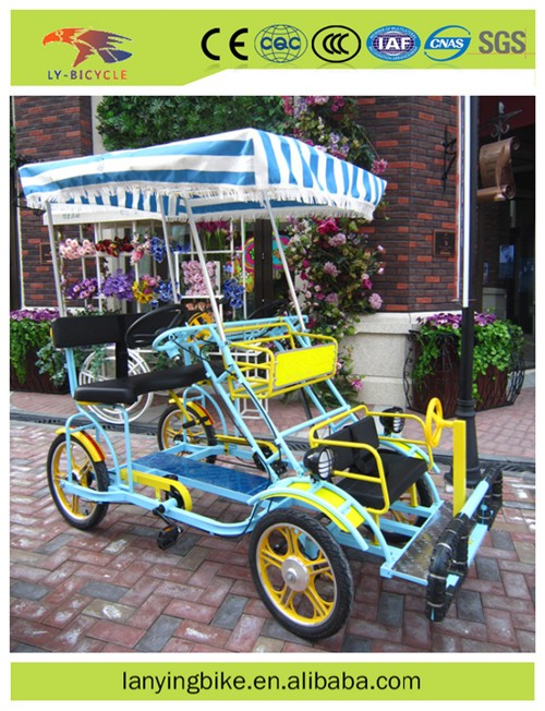 Fashionable 4 wheel adult bike tandem bicycle for sale