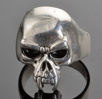 Quality product good finish Men's Vampire Skull 316l Stainless Steel Rings