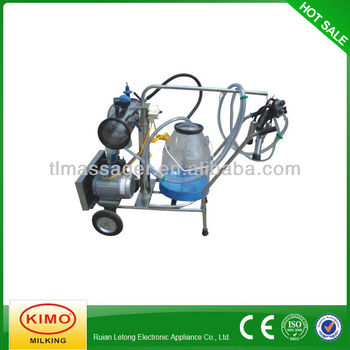 Electric Vacuum Pump-typed Single-barreled Mobile Milking Machine