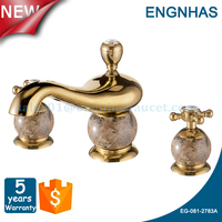 Dual handle antique bronze 3 hole basin tap B&S shower mixer
