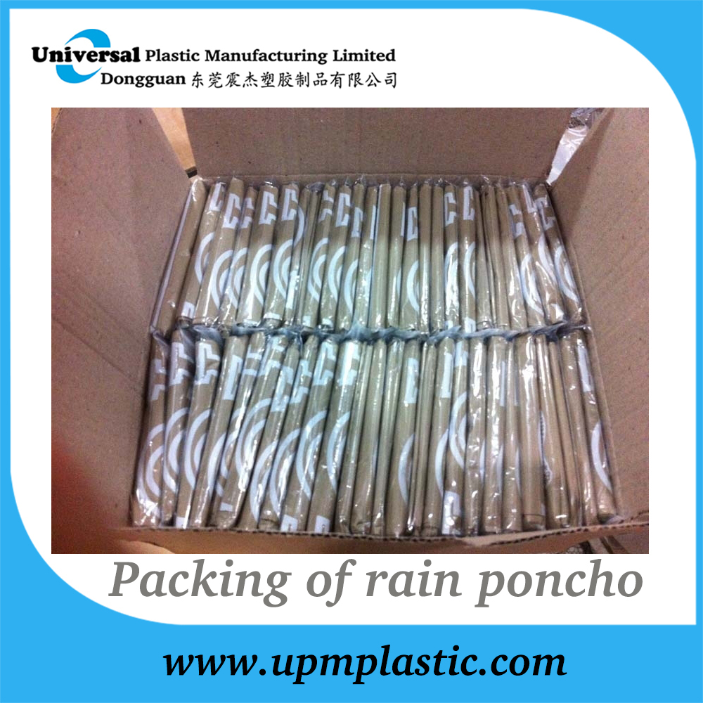 packing of rain poncho