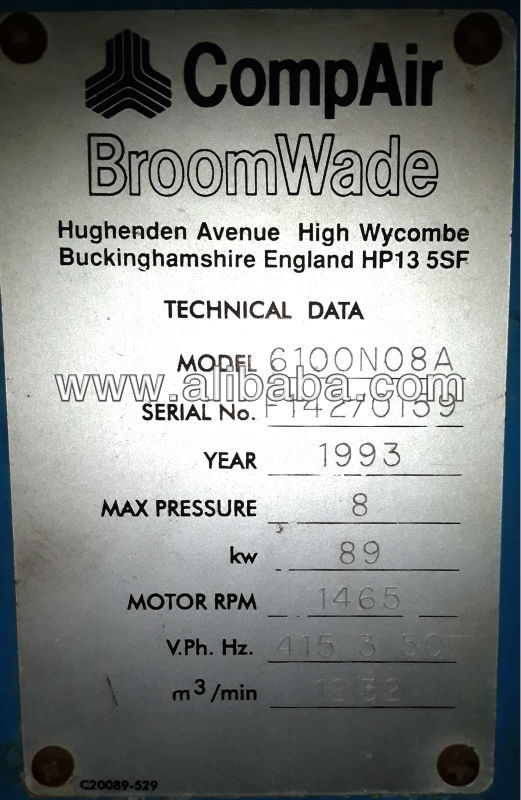 CompAir Broomwade CYCLON 6100N08A (89 KW)