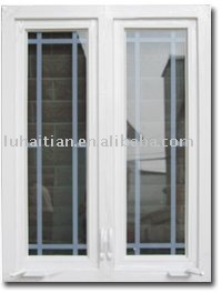 outward pvc window with crank match fixed screen