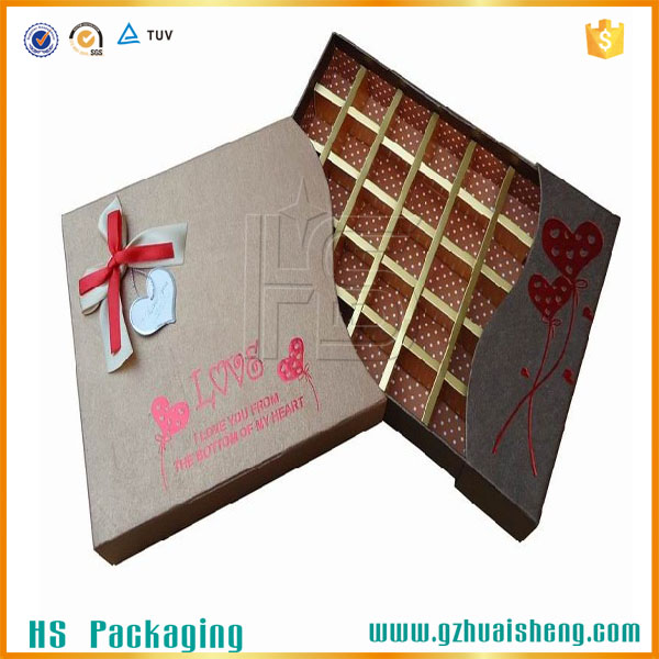 Chocolate Gift Box Ferrero Rocher Box Lid and Base Box with Free Sample