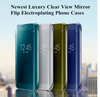 Hot Mirror Clear View Slim Flip Leather Case Cover For Samsung S7 edge,Mirror case for S7