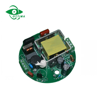 20-36V 2100ma Round Circle type non dimmable constant current led driver 70W with round shape plastic clear box