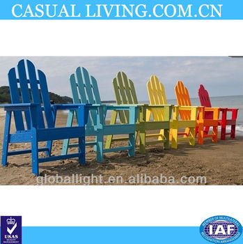 FSC certified Folding Adirondack Chair/leisure chair / beach chair Wooden garden chairs