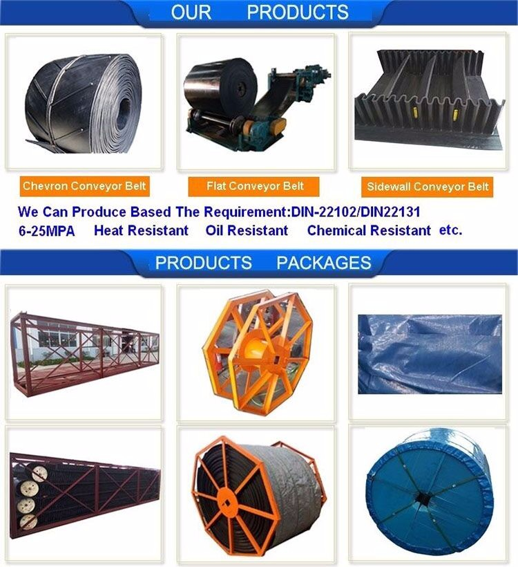 High Efficiency Steel Cord Flame Resistant Conveyor Belt