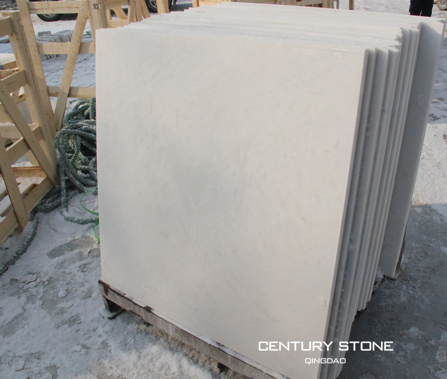 Century 36x36'' Snow White Polished Marble Tile