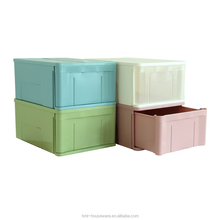 Plastic reinforcing rib pp storage box with drawer big colorful storage with lid