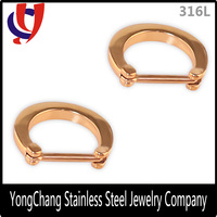 Direct Wholesale Fake Septum Rings Stainless Steel Ring Septum Free Body Jewelry Sample