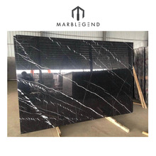 PFM Chinese factory Nero Marquina natural black marble slabs