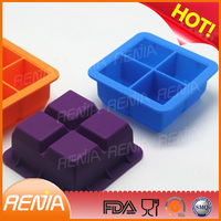 RENJIA new designs silicone ice tray ice cube tray with lid silicone fancy ice tray