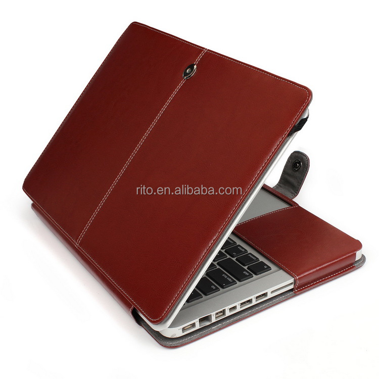 Laptop Carry Case 13 inch for MacBook Pro, PU Leather Protective Cover for MacBook