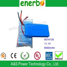 High Power Rechargeable Lipo Battery Jump Start Car Battery Pack for Electric Car 9000mah 11.1V 9074135 Made in China