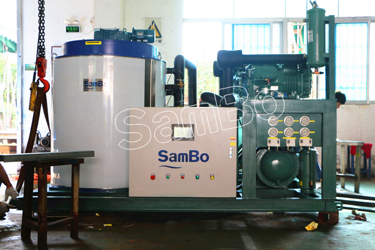 SamBo Middle-East Concrete Frozen Seafood Industrial Ice Plant Flake Ice Machine 10Tons