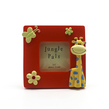 2x2 giraffe animal shape boy and girl photo picture frame