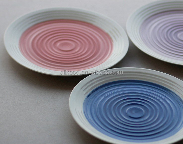 Crop circles Hand-painted ceramic plate characteristics of coloured drawing tableware set