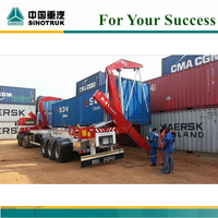 High quality XCMG brand 37 tons Container side loader,side lifter trailer