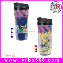 Temperature color changing sensor plastic/ceramic magic thermal mug cup