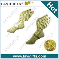 wings lapel pins with long pins