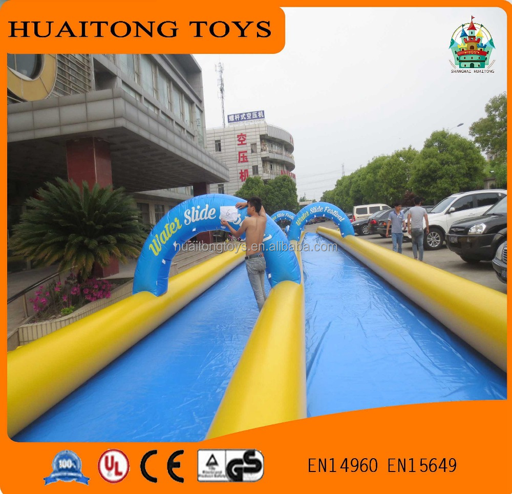 2016 hot sale inflatable giant double laned slide the city for sale.