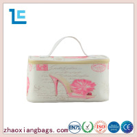 Zhaoxiang wholesale new design pu leather zipper cosmetic bag