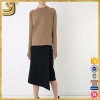SHANGYI knit wool sweater, wool acrylic pullover