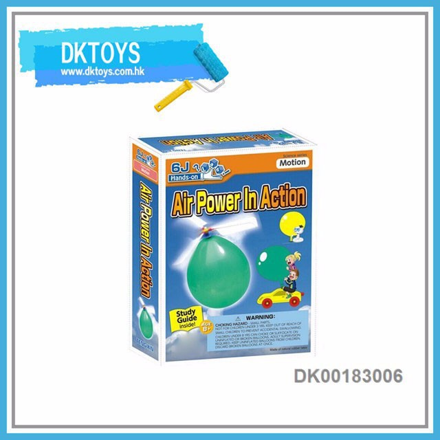 Science Toy Air Power in Action Balloon Car Set Act By Air