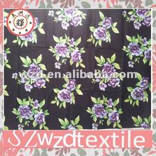 100% Cotton Poplin Flower Print Fabric
