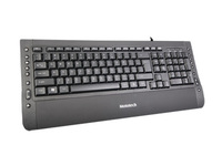 hottest multimedia keyboard with cool design for HP compatible US layout Black