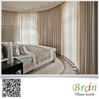 100% polyester Flame Retardant Blackout Hotel Curtains/ Drapery window curtains
