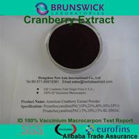 Pure Vaccinium Macrocarpon Extract,100% ID Vaccinum Macrocarpon,Proanthocyanidins 5%,10%,15% BL-DMAC;25%,40%,95% UV EP Method