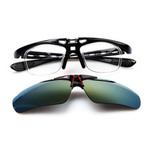 cycling golf bicycle uv 400 protection sports flip up glasses with myopia frame