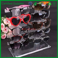 NuoYa001 New 2 row 10 Pairs Sunglasses Glasses Rack Holder Frame Display Stand Transparen