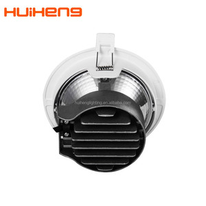 3 Head Shopping Mall Project 12w 14w False Ceiling Etl Led Nichia Warm Dim Gyro Cob LED Downlight With 130mm Cut Out